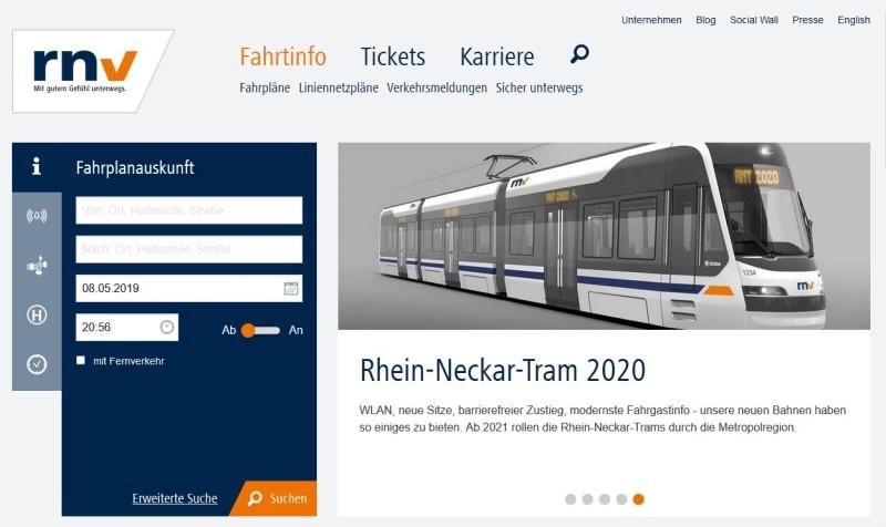 Verkehrsbetriebe Website